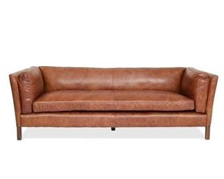 Bungalow Rose Chappell Leather Sofa