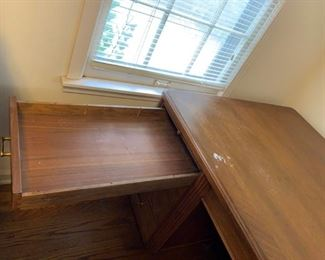 #7 wood desk with 9 drawers 65x40x30  $ 125.00