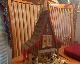 #2 german christmas wing mill wise man stand 20 inches tall   $ 50.00