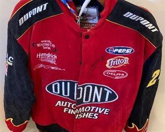 Autographed Leather Racing Jacket...Chase Authenics...size XL