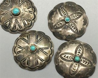 Vintage Navajo Indian Handmade Buttons