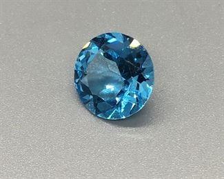 Two Star Blue Topaz each, 4-Karat 10mm Stones