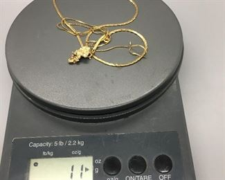 Two, 14k Gold Necklaces (11g total)