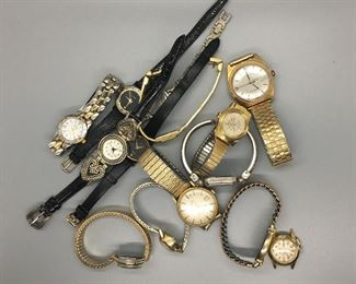 Wrist Watch lot. Brands include: Gruen, Timex, Seiko and others.