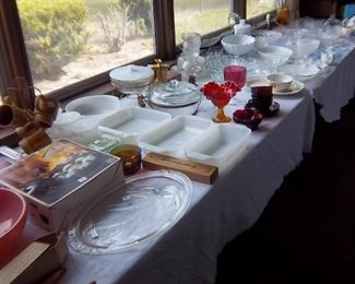 Vintage Pyrex, Glassbake, Amberina, Ruby Glass, etc...
