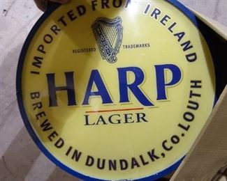 Harp Lager Beer Bar Lighting Wall Sign