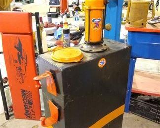 refinished original lubester 1930 oil dispenser