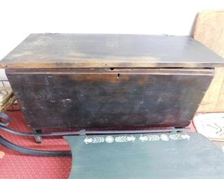 Small Early Blanket Chest