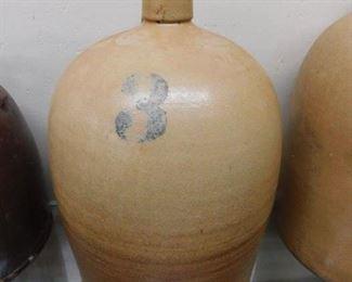 Nice Old 3 Gallon Salt Glaze Jug(Cobalt/Eastern Tennessee or Western, N.C.)
