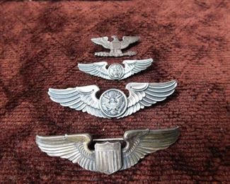WW2 and Vintage Military Wing(Sterling)