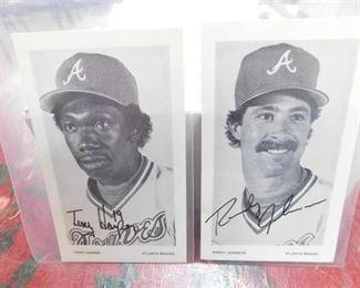 Randy Johnson and Terry Harper Autographed Braves Promo Cards