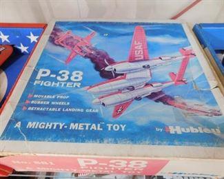 Hubley P-38 Fighter Plane in Original Box