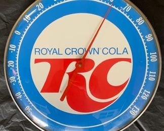 "1970's RC Royal Crown Cola Thermometer(12"" Diameter)"
