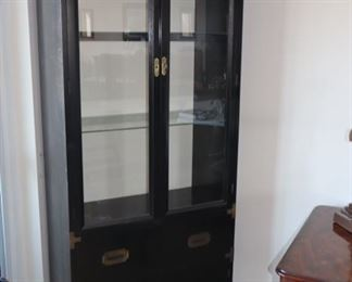 Black Chinoiserie Lighted Display Cabinet (we have 2 of these)