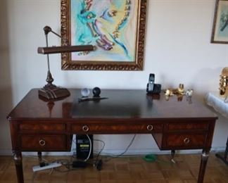 Theodore Alexander Desk with Leather Inlay writing surface