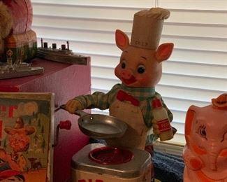 Cook Piggy vintage toy