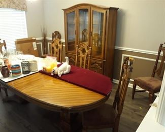 Seven Piece Dining Set with China Cabinet