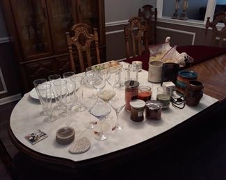 Glassware, Candles, and More