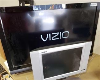 "37"" Vizio Tv and 15"" Magnavox TV(No cord) Vizio TV has remote and Manual"