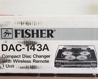 NIB Fisher DAC-143A 5 CD Changer with Remote NIB Fisher DAC-143A 5 CD Changer with Remote