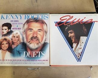 13 Vinyl Records Includes Elvis, Kenny Rogers, Conway Twitty, and more