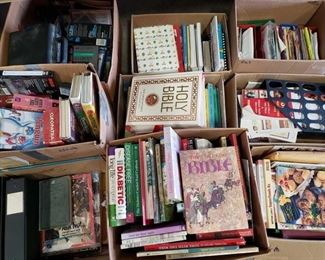 Books, Cookbooks, VHS Tapes, and more! Books, Cookbooks, VHS Tapes, and more!