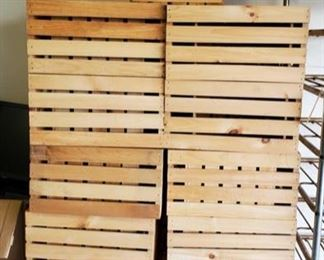 "38 Wooden Crates Measures approx 12"" x 18"" x 10"""