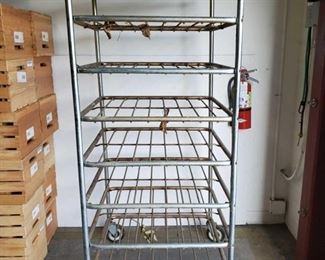 "Metal Bread Rack Measures approx 27"" x 26"" x 66"""