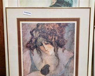 "2 Barbara A. Wood Signed Lithographs, 133/750 Art measures approximately 23"" x 19"" and 31"" x 20"""