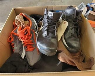 "Men's Shoes and Assorted Clothing Shoes are size 12 and 13. Box is full and measures approx 29"" tall"