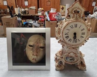 Signed Mask and Clock Agostino Dessi Mask