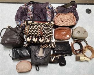 Purses and Belts Brands include Danielle Nicole, Nine West, Whiting and Davis, United, Saks Fifth Avenue, 3 Details Belts anf more!!!