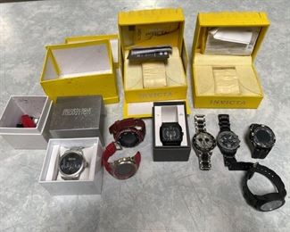 Watches and Watch Boxes Various Watches Watch Boxes Brands Include Armitron, Kenneth Cole Reaction, Thre3, Disney, and Charles Raymond