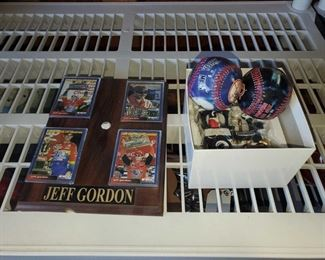 Jeff Gordon Plaque, 2 Baseballs, 2007 San Diego Train Ornament Jeff Gordon Plaque, 2 Baseballs, 2007 San Diego Train Ornament