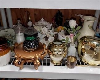 Vases, Plates, Figurines and More! Vases, Plates, Figurines, a Mirror, Ornaments and More !