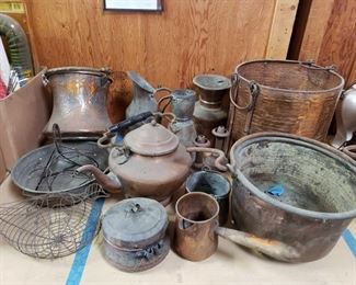 Antique Copper Pots, Kettle and more Antique Copper Pots, Kettle and more