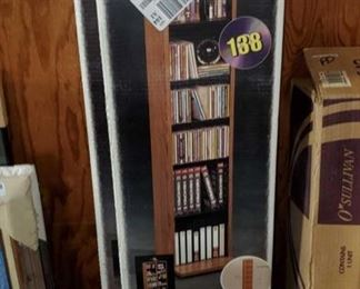 "Sauder Audio/Video Storage Tower Model number: 146 Box measures approx 12""x2""x51"""