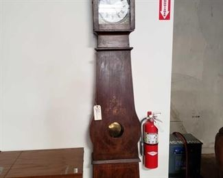 "Antique Grandfather Father Clock Measures approx 9""x18""x93"""