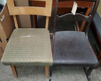 "1 Chair and 1 Rocking Chair Measures approx 31""x18""x33"" to 17""x18""x32"""