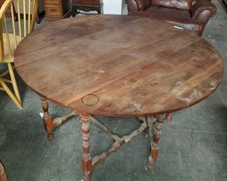 "Drop Leaf Table Measures approx 49""x48""x30"""