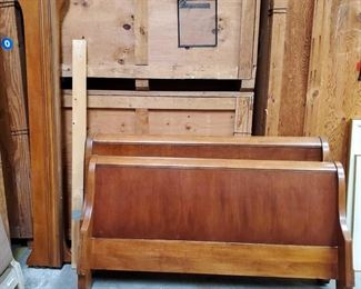 "Bed Frame for Queen Size Mattress Includes rails. Headboard measures approx 64""x38""."