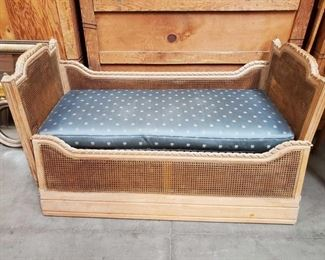 "Wicker Day Bed Measures approx 28""x61""x34"""
