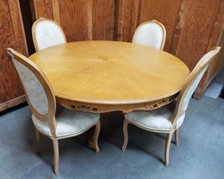 "Dinning Table with 4 Devon Shops Cushioned Chairs Table measures approx 60""x30"" Chairs measure approx 18""x21""x41"""