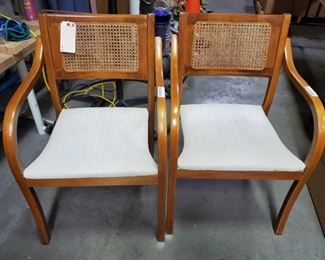"2 Wicker Accent Chairs Measures approx 18""x21""x32"""