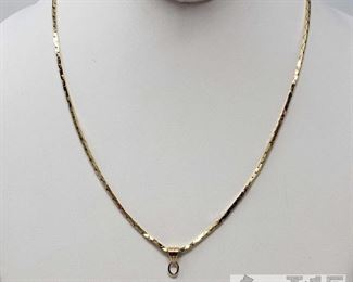 14k Gold Necklace, Weighs Approx 12g 14k Gold Necklace, Weighs Approx 12g