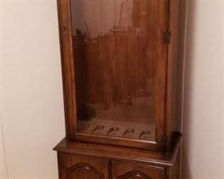 Handmade Gun Cabinet with 2 Door Storage ~ No Keys ~ 28 in. x 17 in. x 74 in.