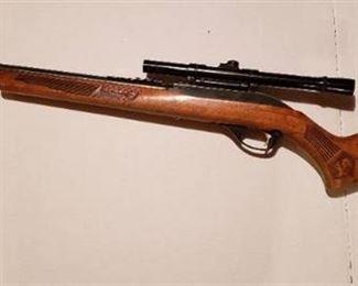 Glen field Golden 50 ~ 22 cal. Rifle Model 60 ~ The Marlin Firearms Co. w/ Springfield 4x Scope