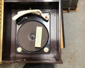 Inside the Altec/Gerrard amp/turntable combo.