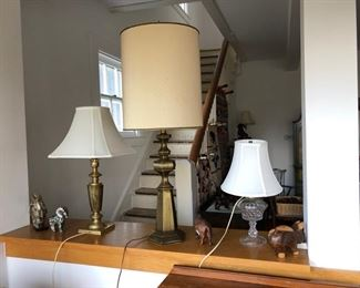 Sampling of many table lamps.