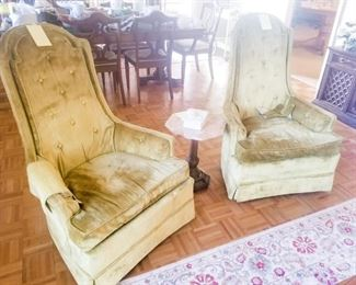 Vintage Chairs, Marble top Table